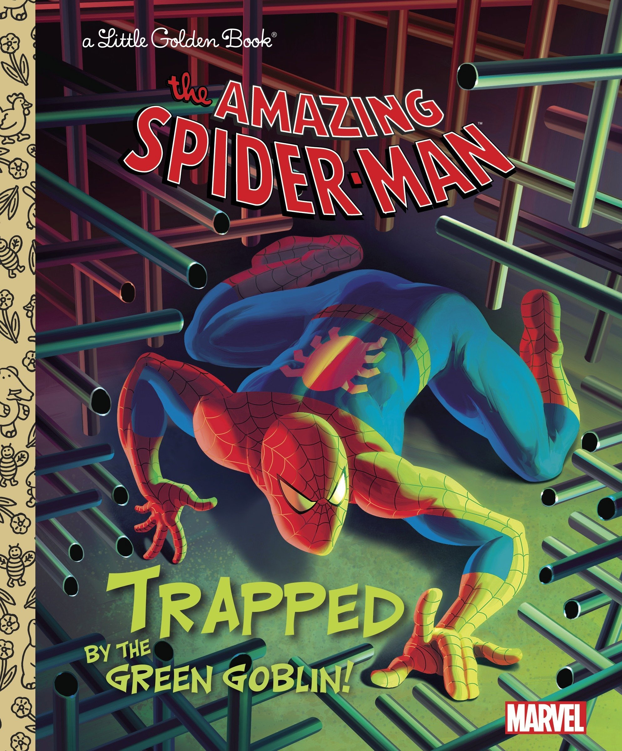Marvel: Amazing Spider-Man: Trapped by the Green Goblin! (Little Golden Book Series)